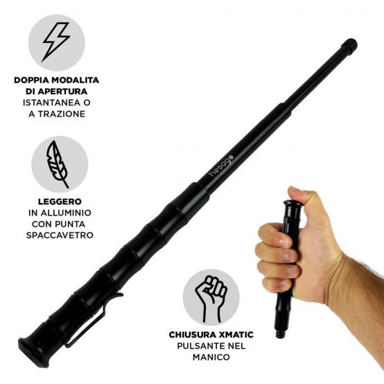 Hesago XMatic Pen - Bastone tascabile a penna (Kubotan) con meccanismo di chiusura